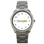 Logo Med Sport Metal Watch