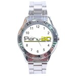 Logo Med Stainless Steel Analogue Watch Front
