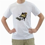 grandpianostructure Men s T-Shirt (White)