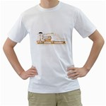 grand piano action Men s Two-sided T-shirt (White)