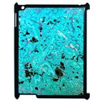 Blue Sensations (aquamarine) Apple iPad 2 Case (Black) Front