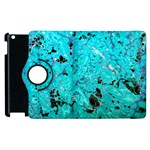 Blue Sensations (aquamarine) Apple iPad 2 Flip 360 Case Front