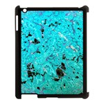 Blue Sensations (aquamarine) Apple iPad 3/4 Case (Black) Front
