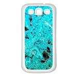 Blue Sensations (aquamarine) Samsung Galaxy S3 Back Case (White)