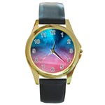 Aura by Jandi Round Gold Metal Watch