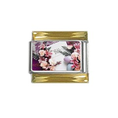 White Holy Bible Spring Flowers Christian Religious Gold Trim Italian Charm (9mm) from DesignMonaco.com Front