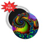 Lucy in the Sky With Diamonds Fractal 2.25  Magnet (10 pack)