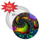 Lucy in the Sky With Diamonds Fractal 2.25  Button (100 pack)