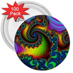 Lucy in the Sky With Diamonds Fractal 3  Button (100 pack)