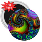 Lucy in the Sky With Diamonds Fractal 3  Magnet (100 pack)