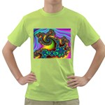 Lucy in the Sky With Diamonds Fractal Green T-Shirt