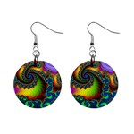 Lucy in the Sky With Diamonds Fractal 1  Button Earrings