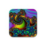 Lucy in the Sky With Diamonds Fractal Rubber Square Coaster (4 pack)