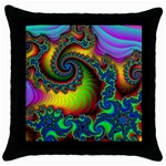 Lucy in the Sky With Diamonds Fractal Throw Pillow Case (Black)