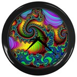 Lucy in the Sky With Diamonds Fractal Wall Clock (Black)