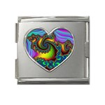 Lucy in the Sky With Diamonds Fractal Mega Link Heart Italian Charm (18mm)