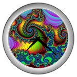 Lucy in the Sky With Diamonds Fractal Wall Clock (Silver)