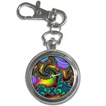 Lucy in the Sky With Diamonds Fractal Key Chain Watch