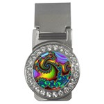 Lucy in the Sky With Diamonds Fractal Money Clip (CZ)