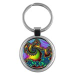 Lucy in the Sky With Diamonds Fractal Key Chain (Round)