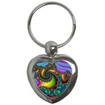 Lucy in the Sky With Diamonds Fractal Key Chain (Heart)