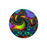 Lucy in the Sky With Diamonds Fractal Rubber Round Coaster (4 pack)