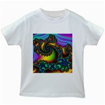 Lucy in the Sky With Diamonds Fractal Kids White T-Shirt