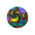 Lucy in the Sky With Diamonds Fractal Magnet 3  (Round)