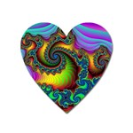 Lucy in the Sky With Diamonds Fractal Magnet (Heart)