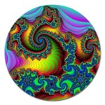 Lucy in the Sky With Diamonds Fractal Magnet 5  (Round)