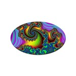 Lucy in the Sky With Diamonds Fractal Sticker Oval (10 pack)