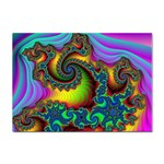 Lucy in the Sky With Diamonds Fractal Sticker A4 (10 pack)
