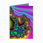 Lucy in the Sky With Diamonds Fractal Mini Greeting Card