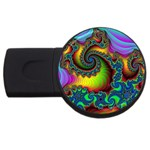 Lucy in the Sky With Diamonds Fractal USB Flash Drive Round (1 GB)