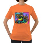 Lucy in the Sky With Diamonds Fractal Women s Dark T-Shirt