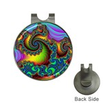 Lucy in the Sky With Diamonds Fractal Golf Ball Marker Hat Clip