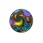 Lucy in the Sky With Diamonds Fractal Hat Clip Ball Marker (4 pack)