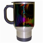 Lucy in the Sky With Diamonds Fractal Travel Mug (Silver Gray)