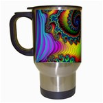Lucy in the Sky With Diamonds Fractal Travel Mug (White)