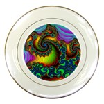 Lucy in the Sky With Diamonds Fractal Porcelain Plate