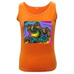 Lucy in the Sky With Diamonds Fractal Women s Dark Tank Top