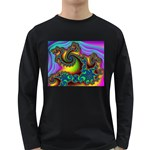 Lucy in the Sky With Diamonds Fractal Long Sleeve Dark T-Shirt