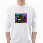 Lucy in the Sky With Diamonds Fractal Long Sleeve T-Shirt