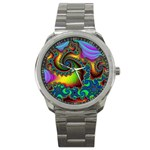 Lucy in the Sky With Diamonds Fractal Sport Metal Watch