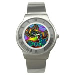Lucy in the Sky With Diamonds Fractal Stainless Steel Watch