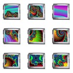 Lucy in the Sky With Diamonds Fractal Mega Link Italian Charm (9 pack)