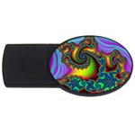 Lucy in the Sky With Diamonds Fractal USB Flash Drive Oval (4 GB)