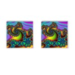 Lucy in the Sky With Diamonds Fractal Cufflinks (Square)