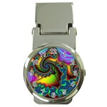Lucy in the Sky With Diamonds Fractal Money Clip Watch