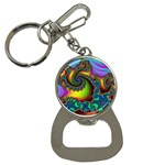 Lucy in the Sky With Diamonds Fractal Bottle Opener Key Chain